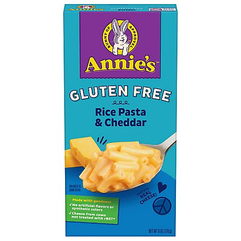 Annies Homegrown Macaroni & Cheese Gluten Free Rice Pasta & Cheddar Box - 6 Oz