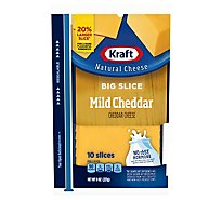 Kraft Cheese Natural Slices Big Slice Mild Cheddar - 8 Oz