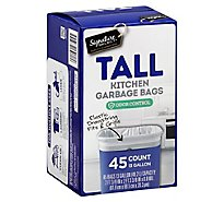 Signature SELECT/Home Garbage Bags Drawstring Tall Kitchen Odor Control 13 Gallon - 45 Count