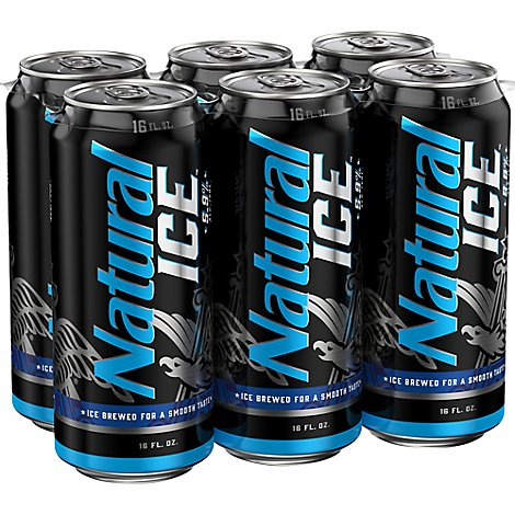Natural Ice Beer Cans - 6-16 Fl. Oz.