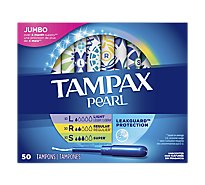 Tampax Pearl Tampons Plastic Triple Pack Unscented - 50 Count