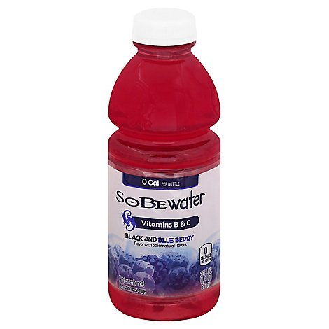 SoBe lifewater Hydration Beverage Nutrient Enhanced Black and Blue Berry - 20 Fl. Oz.