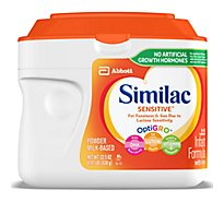 Similac Sensitive Infant Formula For Fussiness and Gas With Iron Powder - 22.5 Oz