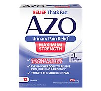 Azo Urinary Pain Relief Tablets 97.5mg Maximum Strength - 12 Count