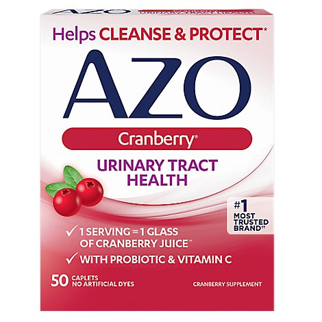 AZO Cranberry Urinary Tract Health Tablets - 50 Count