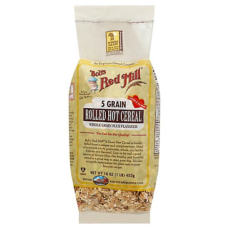 Bobs Red Mill Cereal Hot Rolled 5 Grain - 16 Oz