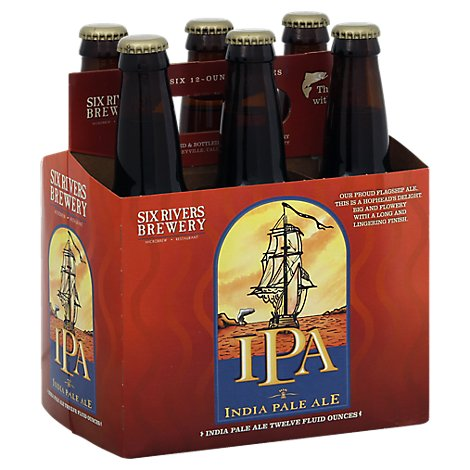 Six Rivers Brewery IPA - India Pale Ale Bottle - 6-12 Fl. Oz.