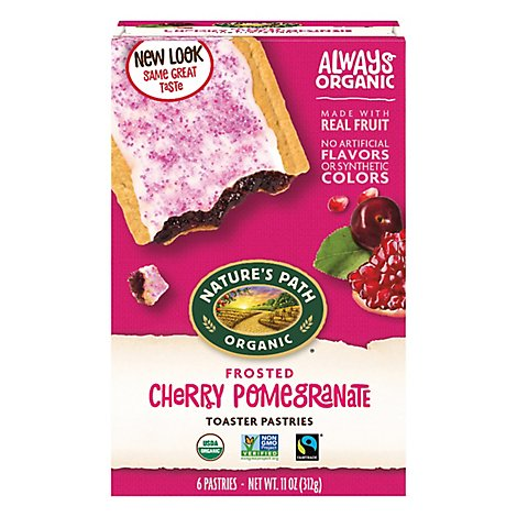 Natures Path Organic Toaster Pastries Frosted Cherry Pomegranate - 11 Oz