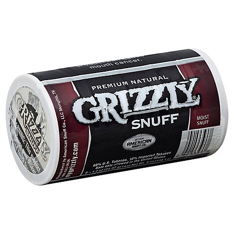 Grizzly Fine Cut Snuff - Case