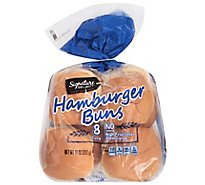 Signature SELECT Hamburger Buns Enriched - 8 Count