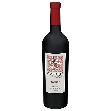Colores del Sol Wine Malbec Mendoza Argentina - 750 Ml