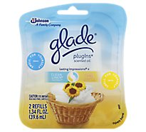 Glade PlugIns Scented Oil Refill Clean Linen Sunny Days - 2-0.67 Fl. Oz.