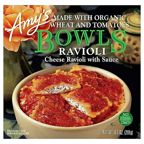Amys Bowls Ravioli Cheese with Sauce - 9.5 Oz
