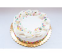 Bakery Cake White Decorated 1 Layer - Each