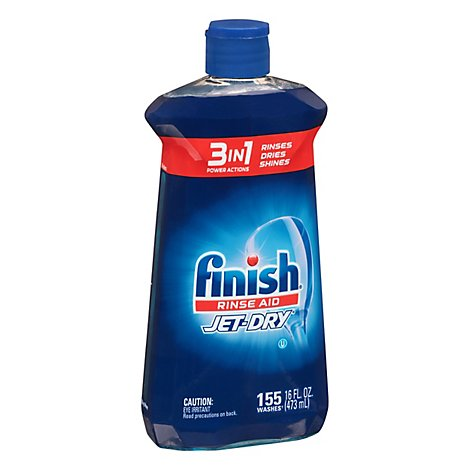 Finish Jet Dry Rinse Aid 5x Power Shine & Protect Bottle - 16 Fl. Oz.