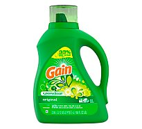Gain Plus Aroma Boost Laundry Detergent Liquid Original - 100 Fl. Oz.