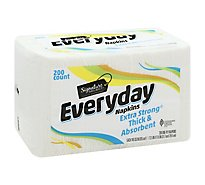 Signature SELECT Napkins 1 Ply Everyday Extra Strong Thick & Absorbent Wrap - 200 Count