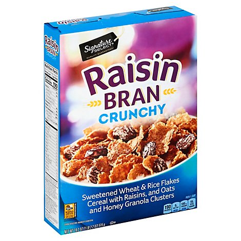 Signature SELECT Cereal Raisin Bran with Crunchy Granola - 18.2 Oz