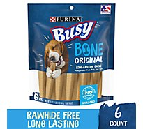 Busy Dog Treats Bone Chewbones Pouch 6 Count - 21 Oz