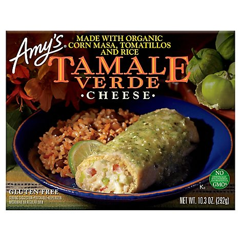 Amys Tamale Verde Cheese - 10.3 Oz