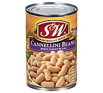S&W Beans Kidney White Cannellini - 15.5 Oz