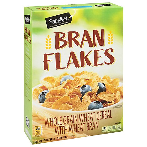 Signature SELECT Cereal Bran Flakes - 17.3 Oz