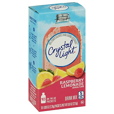 Crystal Light Drink Mix On-The-Go Packets Raspberry Lemonade - 10-0.08 Oz