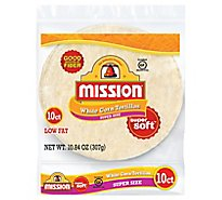 Mission Tortillas Corn White Super Soft Super Size Bag 10 Count - 10.84 Oz