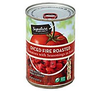 Signature SELECT Tomatoes Fire Roasted Diced - 14.5 Oz