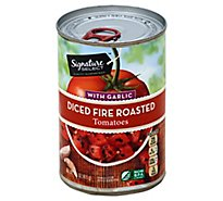 Signature SELECT Tomatoes Fire Roasted with Garlic Diced - 14.5 Oz