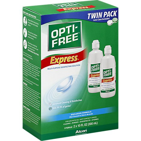 Opti Free Express Disinfecting Solution Multi-Purpose Everyday Comfort Twin Pack - 2-10 Fl. Oz.