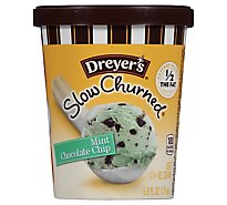 Dreyers Edys Ice Cream Cup Slow Churned Mint Chocolate Chip - 5.8 Fl. Oz.