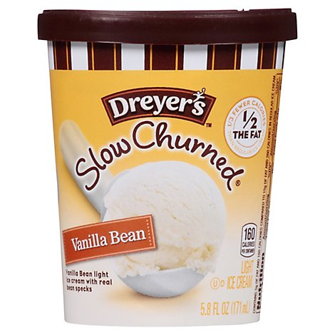 Dreyers Edys Ice Cream Cup Slow Churned Vanilla Bean - 5.8 Fl. Oz.