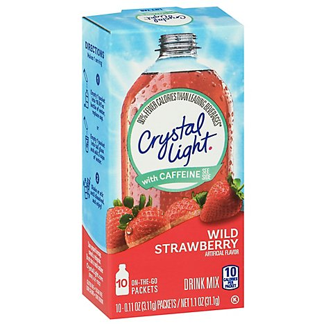Crystal Light Drink Mix On-The-Go Packets Wild Strawberry - 10-0.11 Oz