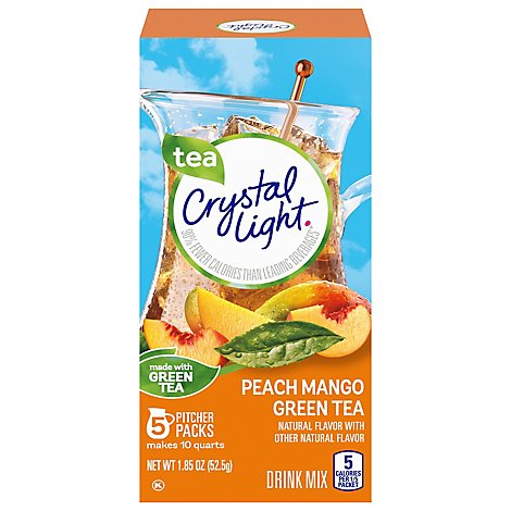 Crystal Light Drink Mix Pitcher Packs Peach-Mango Tub 5 Count - 1.85 Oz