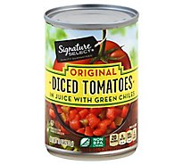 Signature SELECT Tomatoes Diced & Green Chilies Southwestern Style Can - 10 Oz
