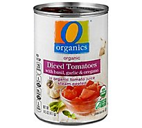 O Organics Organic Tomatoes Diced In Tomato Juice With Basil Garlic & Oregano - 14.5 Oz