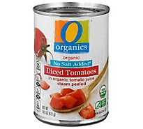 O Organics Organic Tomatoes Diced In Tomato Juice No Salt Added - 14.5 Oz