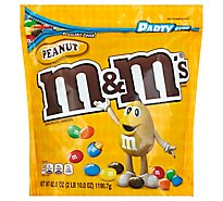M&Ms Peanut Milk Chocolate Candy Party Size 42 Oz