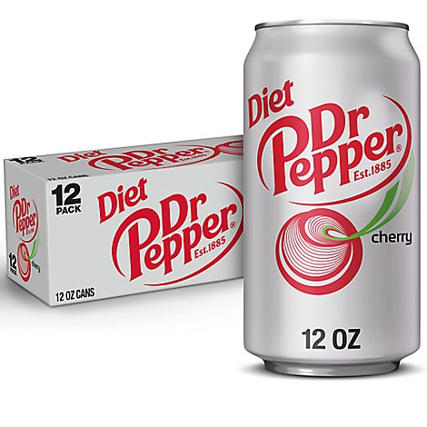 Diet Dr Pepper Cherry Soda 12 fl oz cans 12 pack