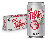Diet Dr Pepper Cherry Soda In Can - 12-12 Fl. Oz.
