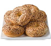 Bakery Bagels Everything - 6 Count