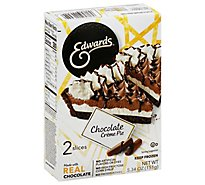 EDWARDS Pie Creme Chocolate 2 Slices Frozen - 5.3 Oz