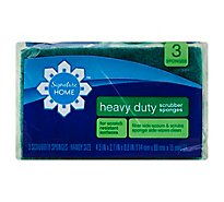Signature SELECT/Home Scrubber Sponges Heavy Duty Handy Size - 3 Count