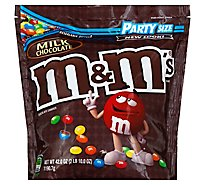 M&Ms Milk Chocolate Candy Party Size 42 Oz