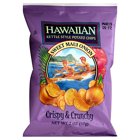 Hawaiian Potato Chips Kettle Style Sweet Maui Onion - 2 Oz