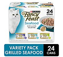 Fancy Feast Cat Food Gourmet Grilled Collection Seafood Box - 24-3 Oz