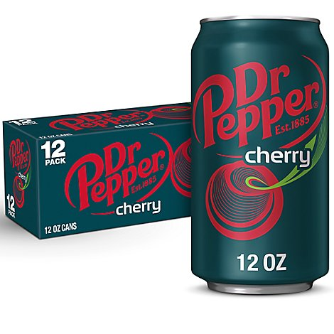 Dr Pepper Cherry Soda 12 fl oz cans 12 pack