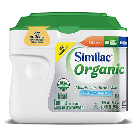 Similac Organic Infant Formula with Iron Powder - 23.2 Oz