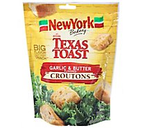 New York The Original Texas Toast Croutons Garlic & Butter Flavor - 5 Oz